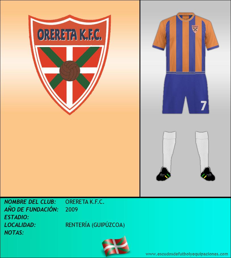 Escudo de ORERETA K.F.C.