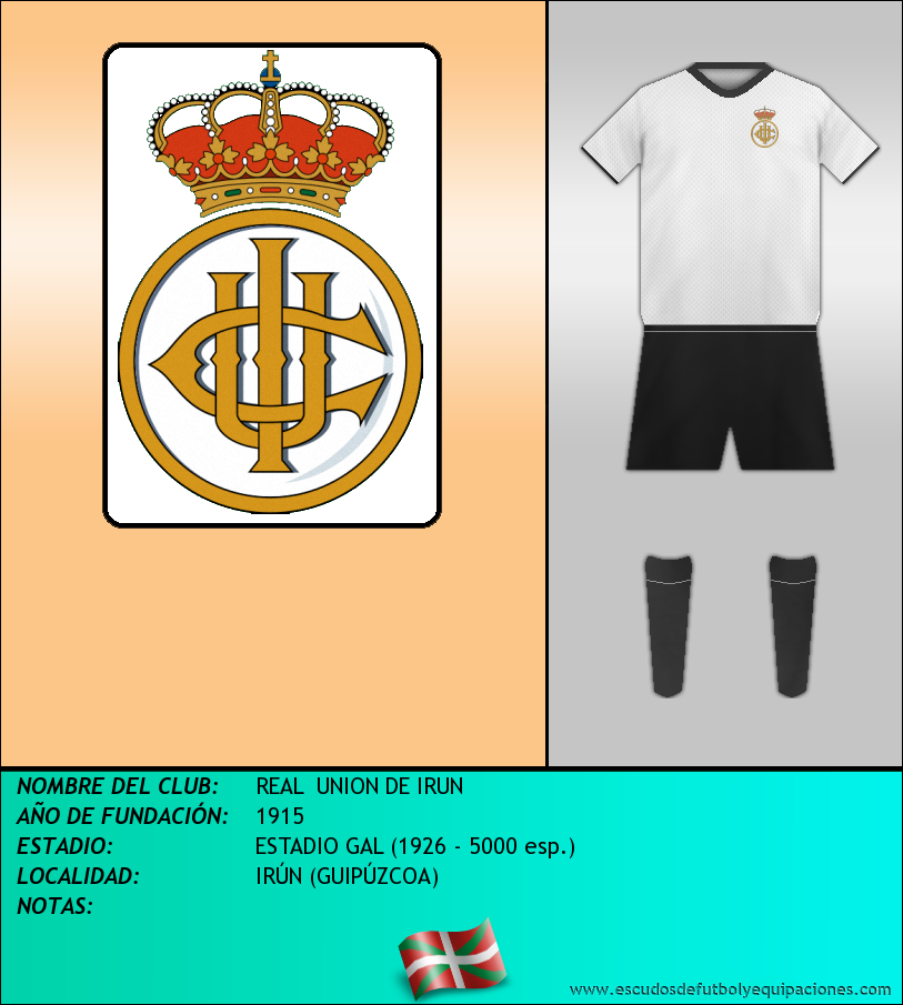 Escudo de REAL  UNION DE IRUN