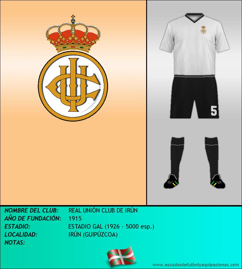 Escudo de REAL UNIÓN CLUB DE IRÚN