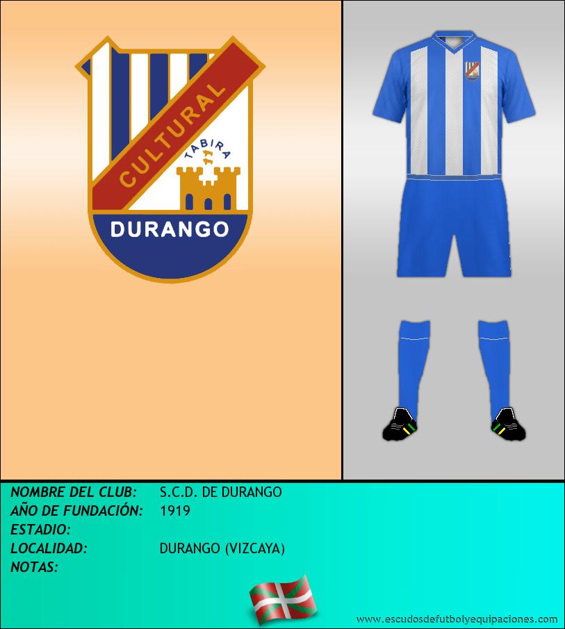 Escudo de S.C.D. DE DURANGO