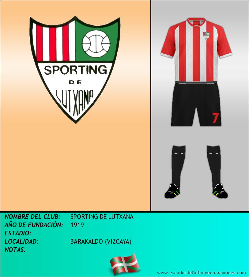 Escudo de SPORTING DE LUTXANA