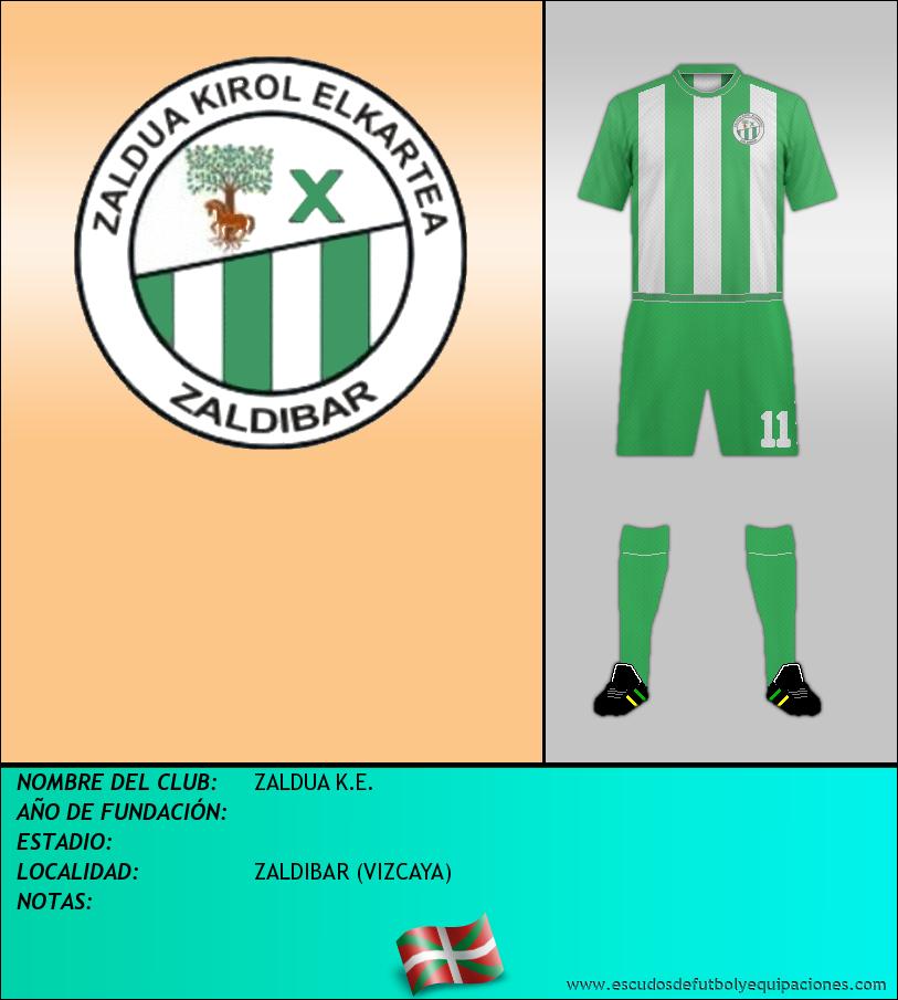Escudo de ZALDUA K.E.