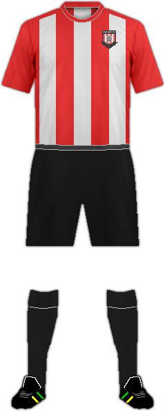 Equipación RED MIST F.C.