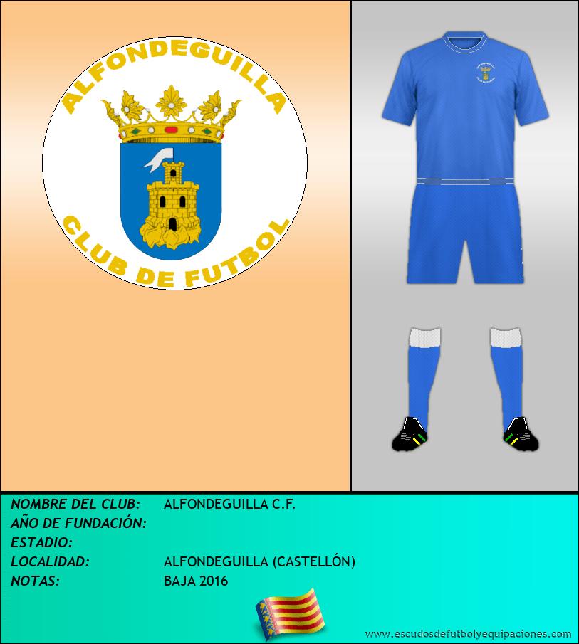 Escudo de ALFONDEGUILLA C.F.