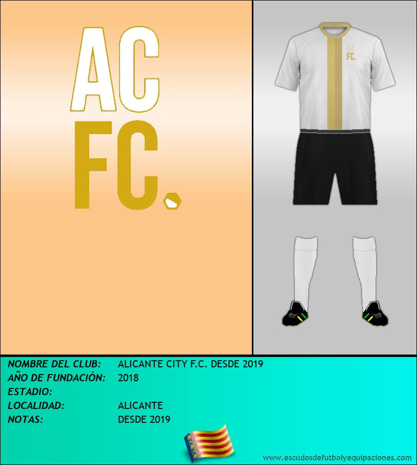 Escudo de ALICANTE CITY F.C. DESDE 2019