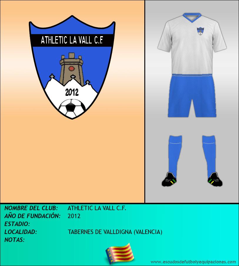 Escudo de ATHLETIC LA VALL C.F.