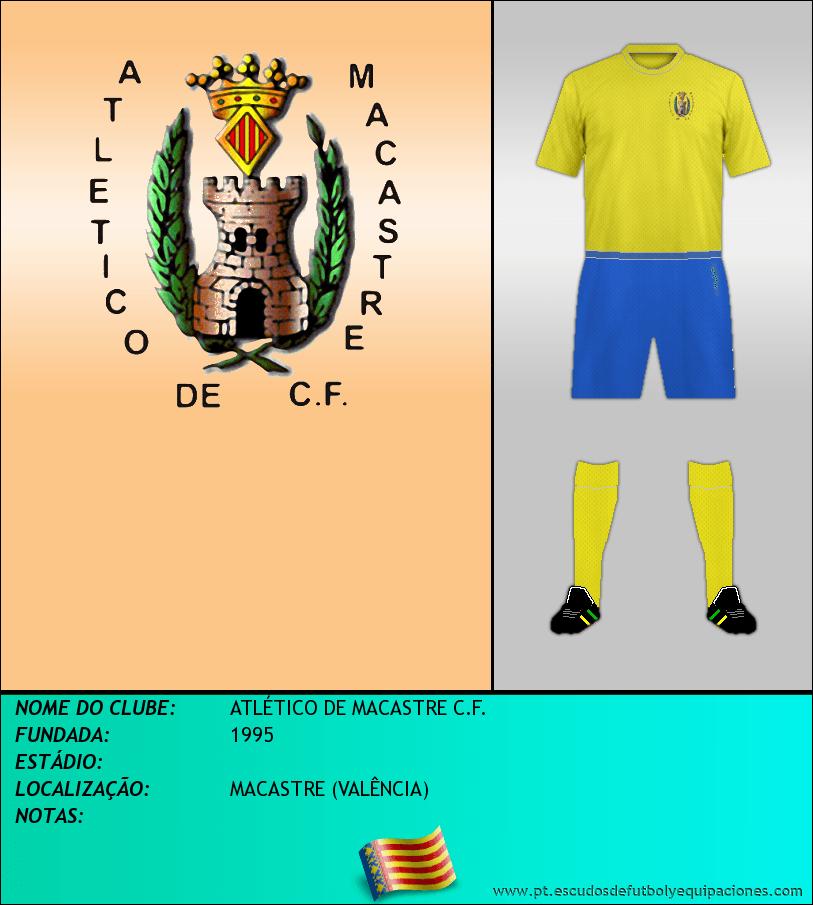 Escudo de ATLÉTICO DE MACASTRE C.F.