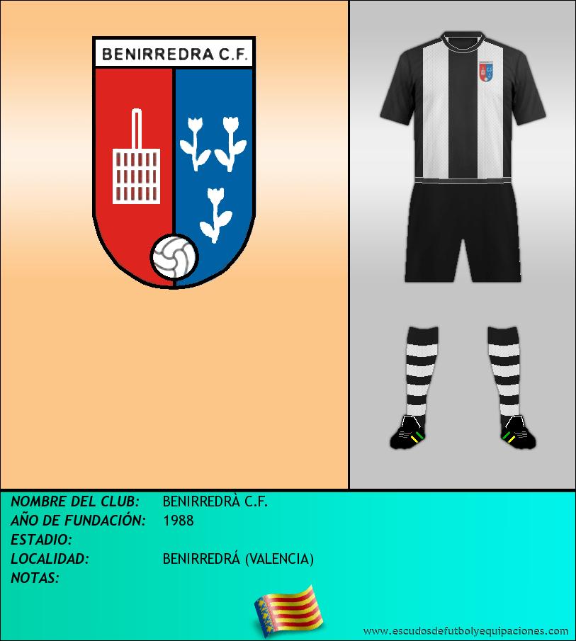 Escudo de BENIRREDRÀ C.F.