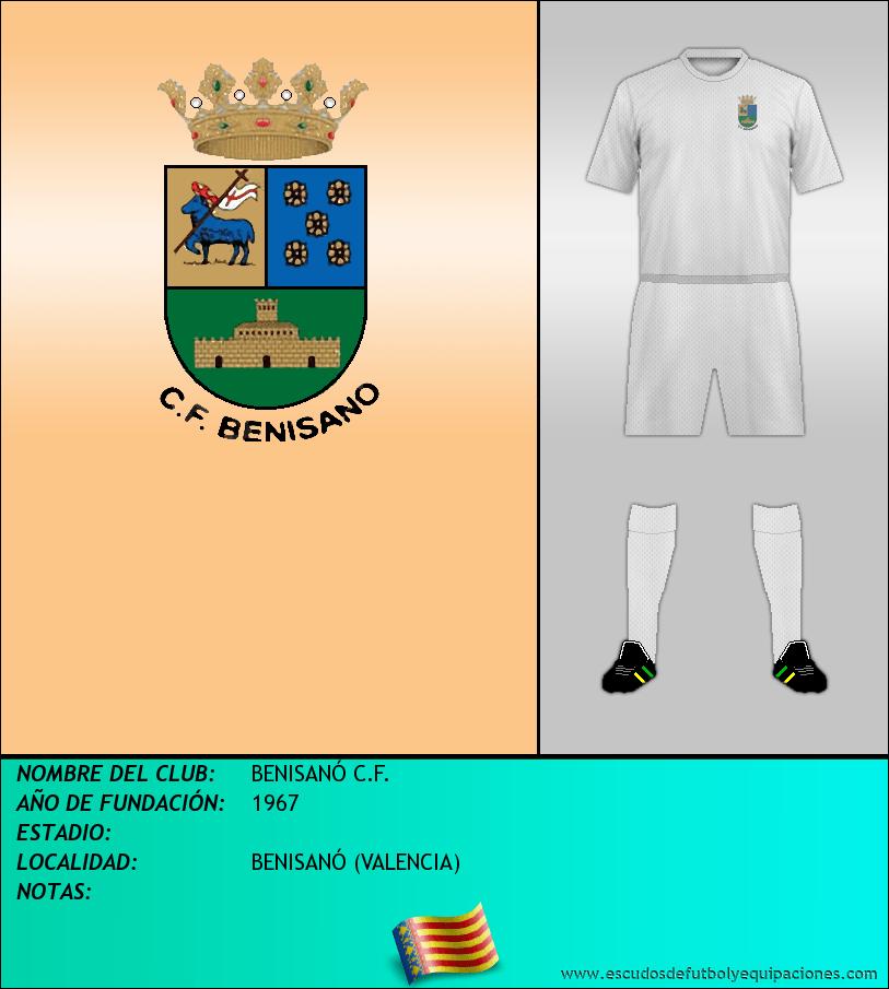 Escudo de BENISANÓ C.F.