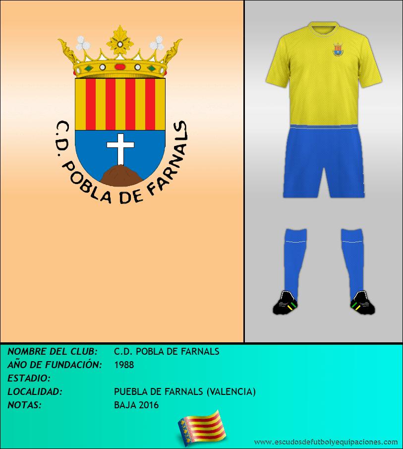 Escudo de C.D. POBLA DE FARNALS