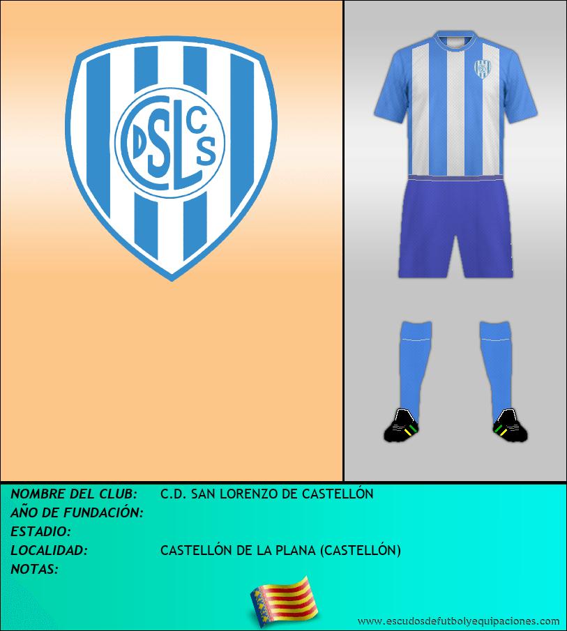 Escudo de C.D. SAN LORENZO DE CASTELLÓN