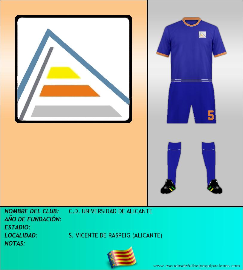 Escudo de C.D. UNIVERSIDAD DE ALICANTE