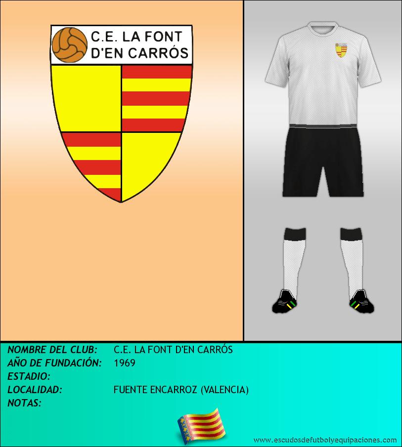 Escudo de C.E. LA FONT D'EN CARRÓS