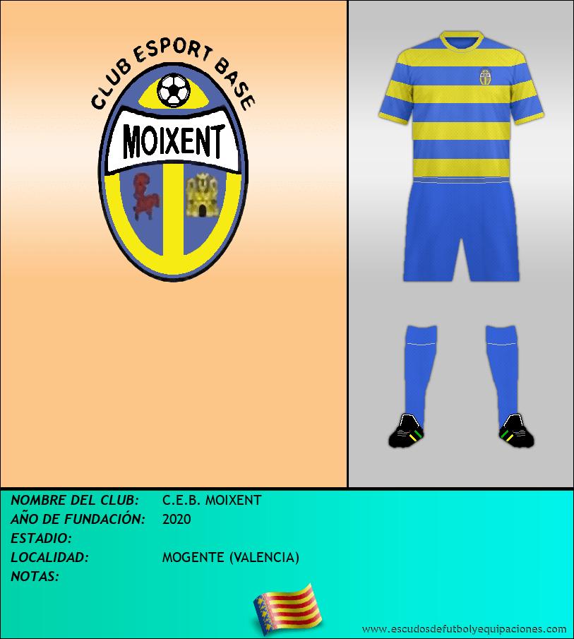 Escudo de C.E.B. MOIXENT