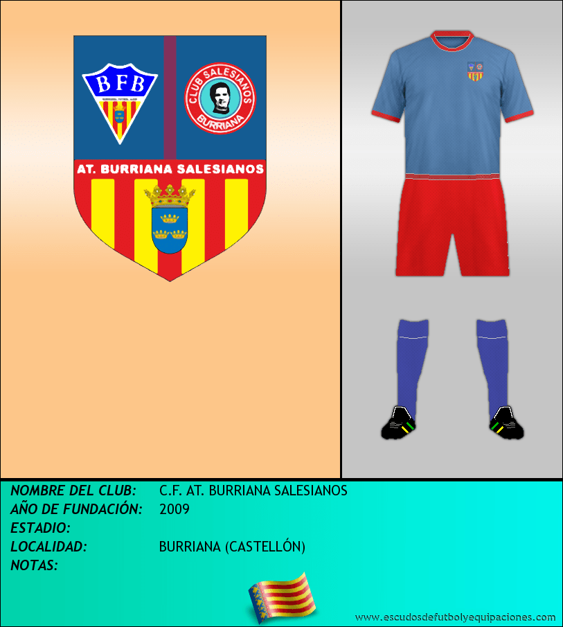 Escudo de C.F. AT. BURRIANA SALESIANOS