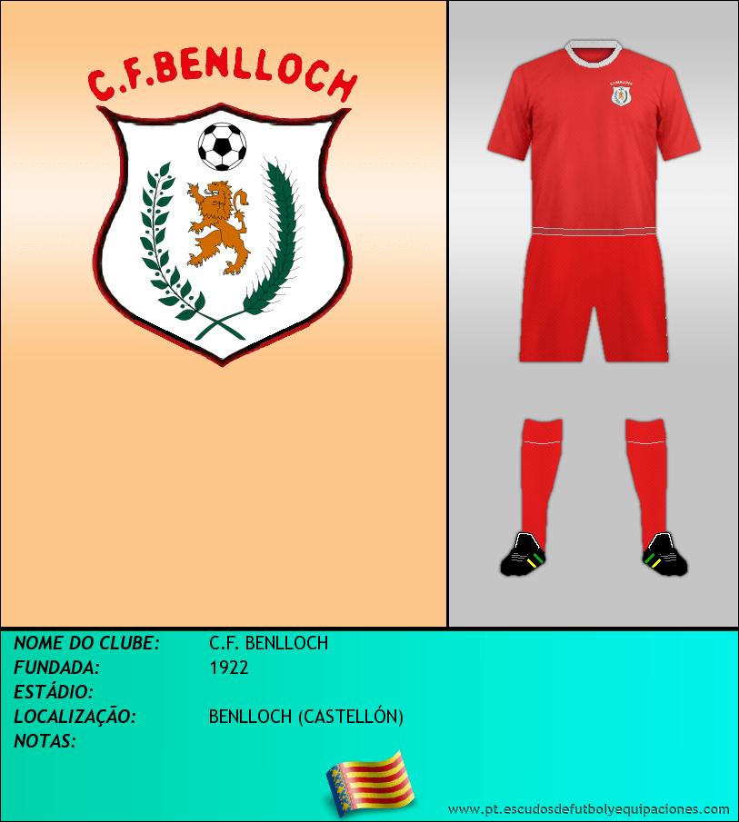 Escudo de C.F. BENLLOCH