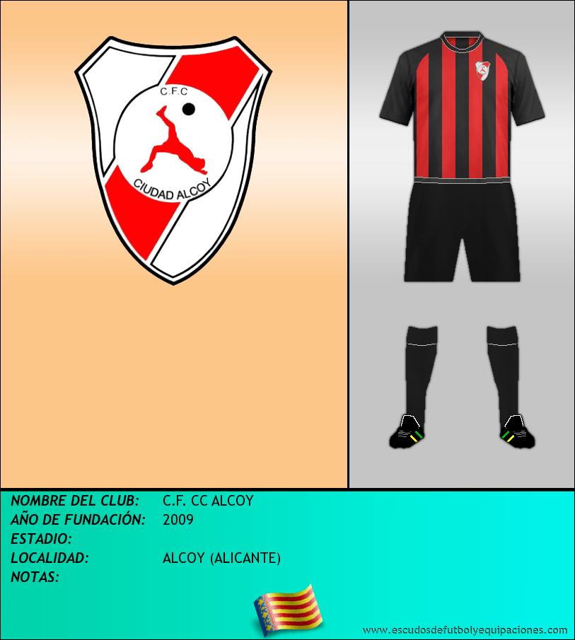 Escudo de C.F. CC ALCOY