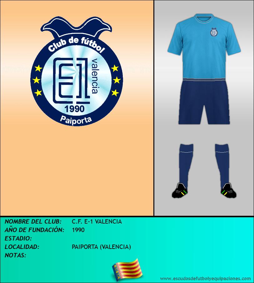 Escudo de C.F. E-1 VALENCIA