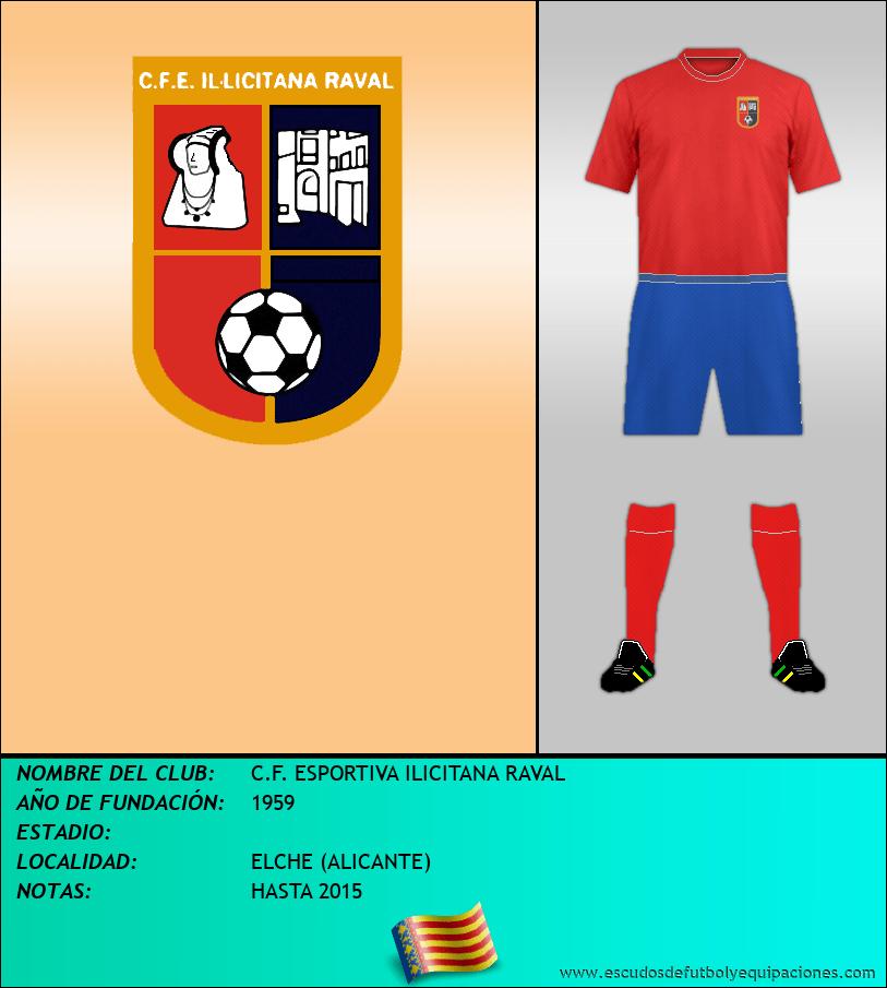Escudo de C.F. ESPORTIVA ILICITANA RAVAL