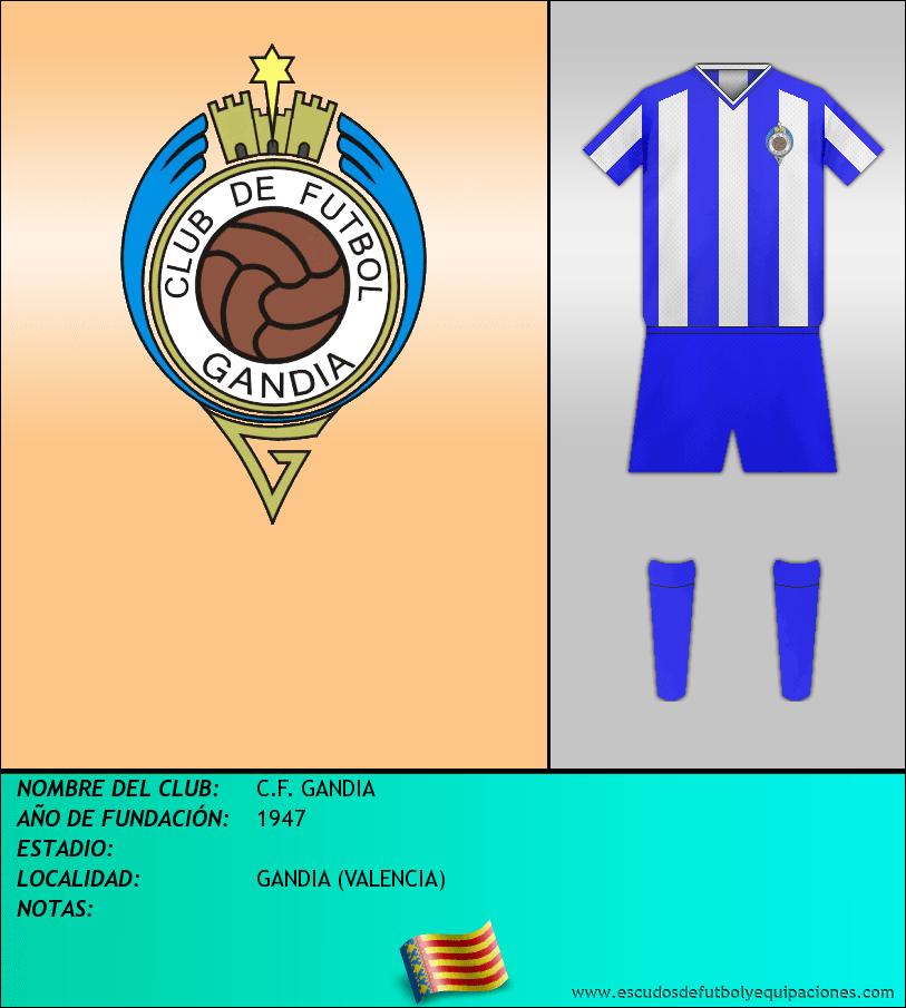 Escudo de C.F. GANDIA