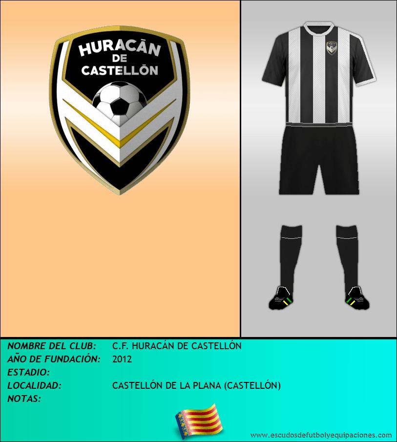 Escudo de C.F. HURACÁN DE CASTELLÓN