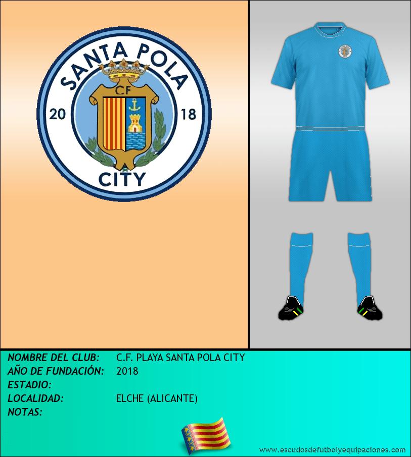 Escudo de C.F. PLAYA SANTA POLA CITY