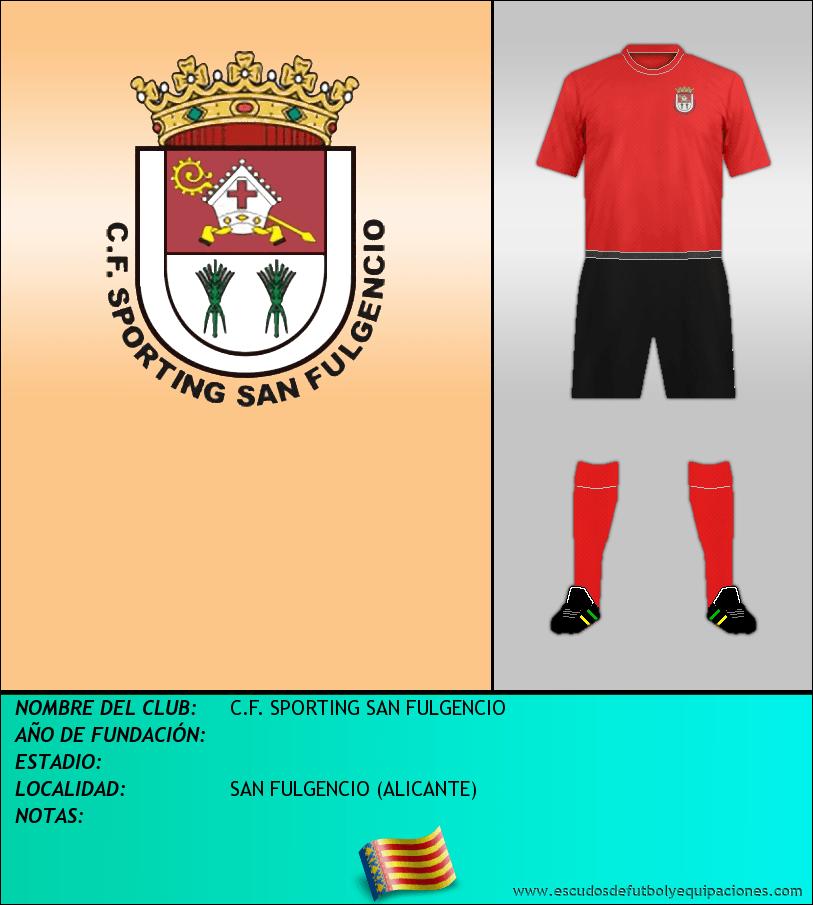 Escudo de C.F. SPORTING SAN FULGENCIO