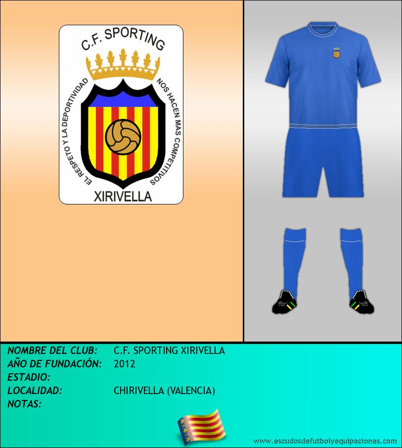 Escudo de C.F. SPORTING XIRIVELLA