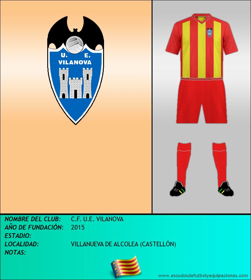 Escudo de C.F. U.E. VILANOVA