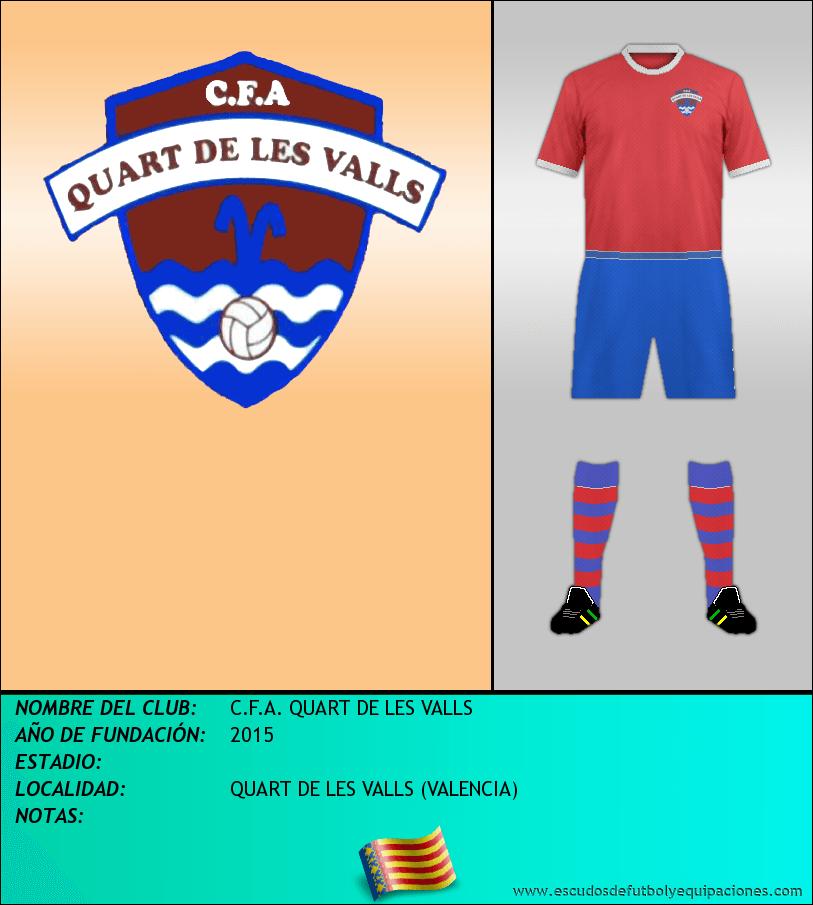 Escudo de C.F.A. QUART DE LES VALLS