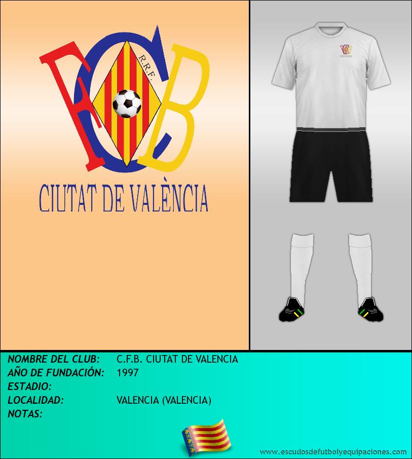 Escudo de C.F.B. CIUTAT DE VALENCIA