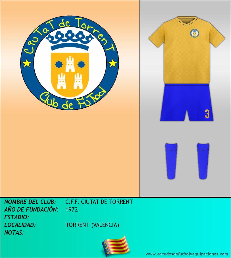 Escudo de C.F.F. CIUTAT DE TORRENT