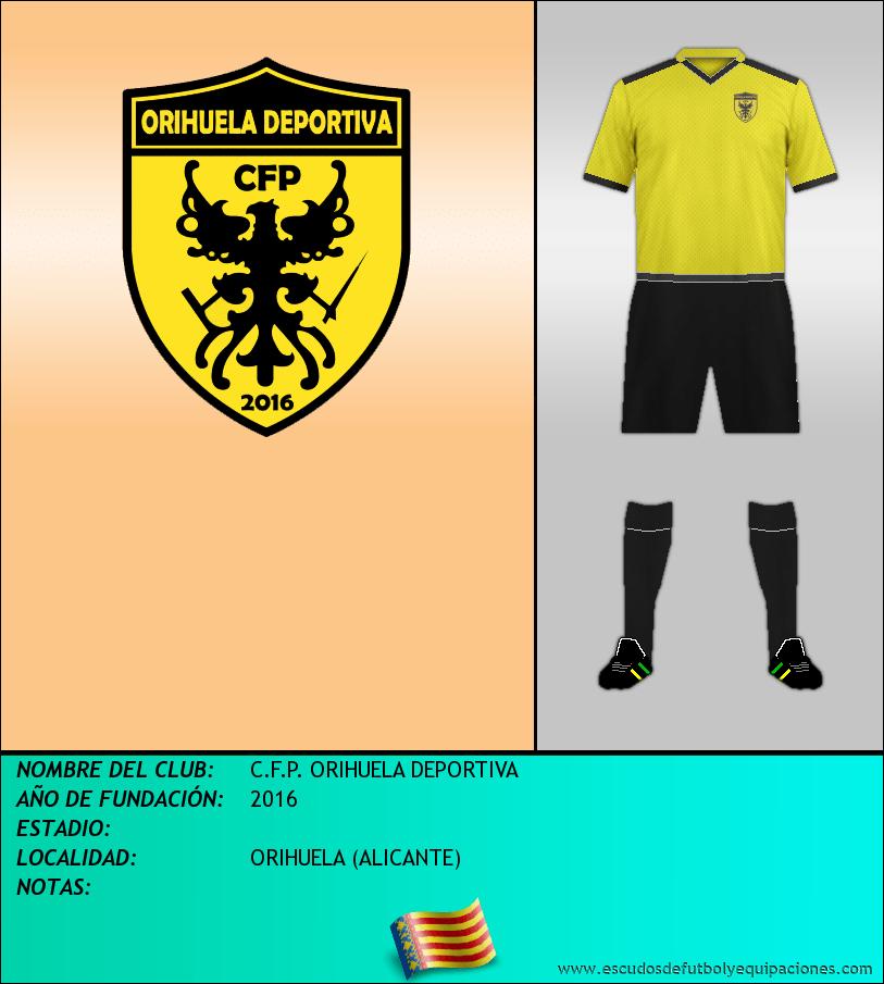 Escudo de C.F.P. ORIHUELA DEPORTIVA