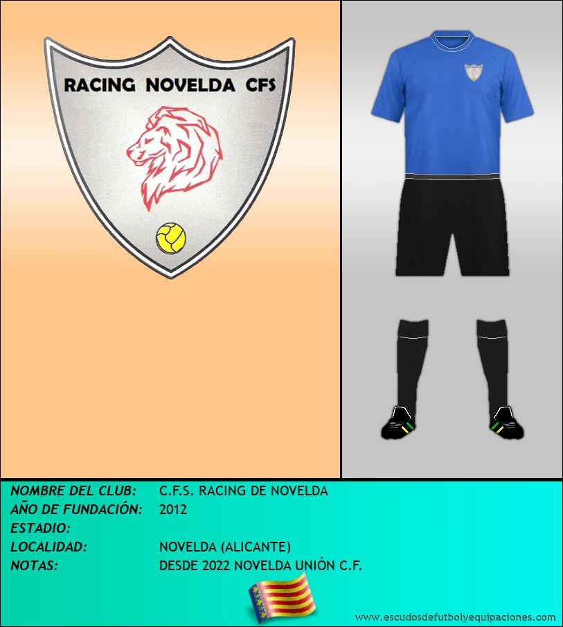 Escudo de C.F.S. RACING DE NOVELDA