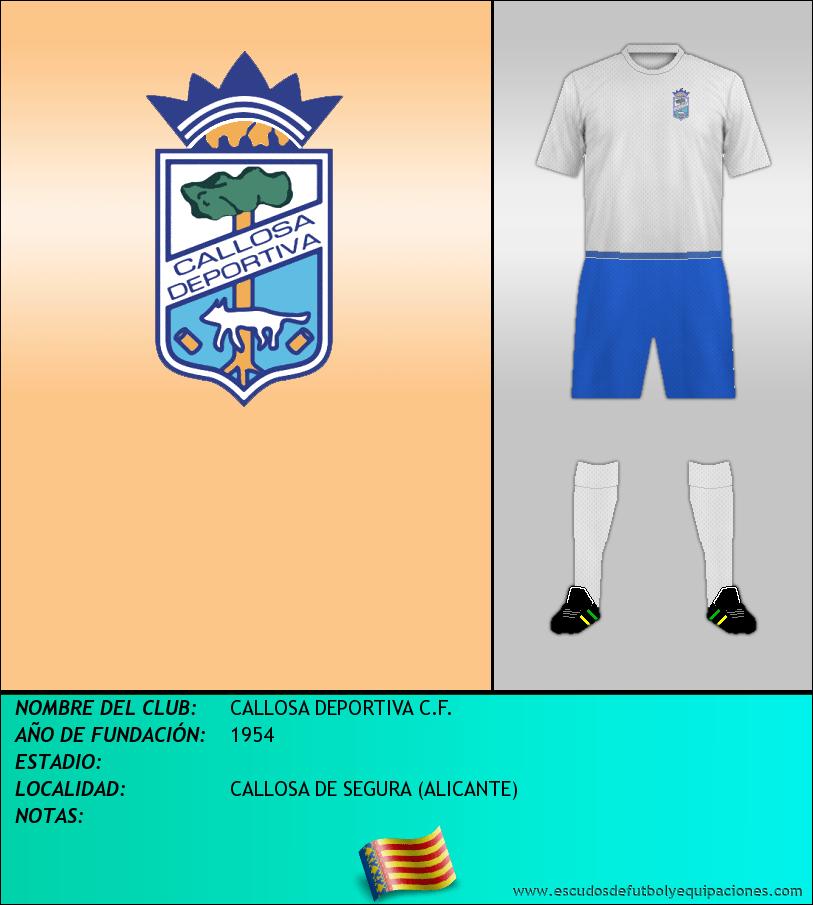 Escudo de CALLOSA DEPORTIVA C.F.