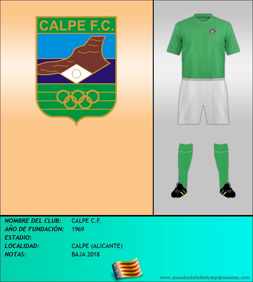 Escudo de CALPE C.F.