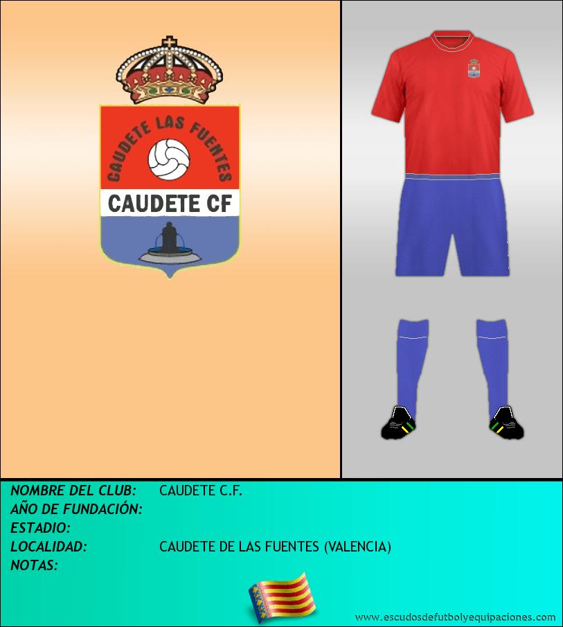 Escudo de CAUDETE C.F.