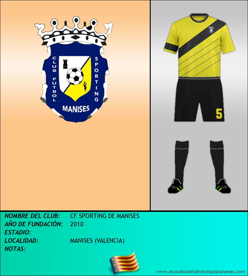 Escudo de CF SPORTING DE MANISES