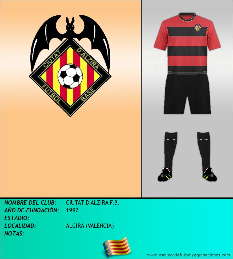 Escudo de CIUTAT D'ALZIRA F.B.