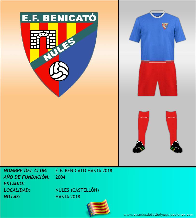 Escudo de E.F. BENICATÓ HASTA 2018