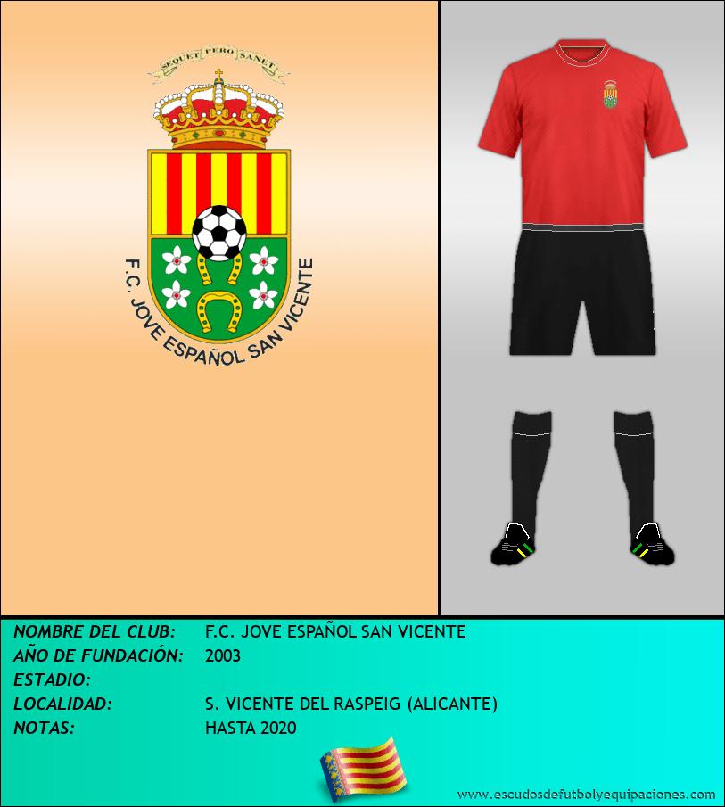 Escudo de F.C. JOVE ESPAÑOL SAN VICENTE