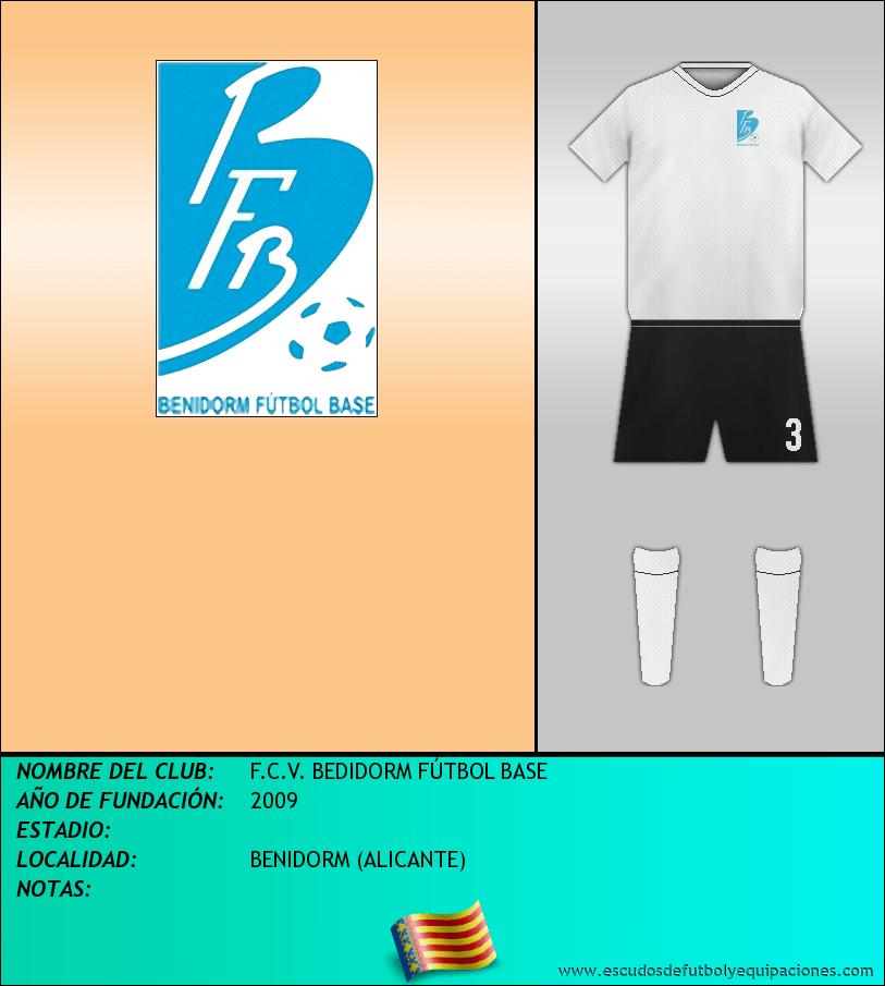Escudo de F.C.V. BEDIDORM FÚTBOL BASE