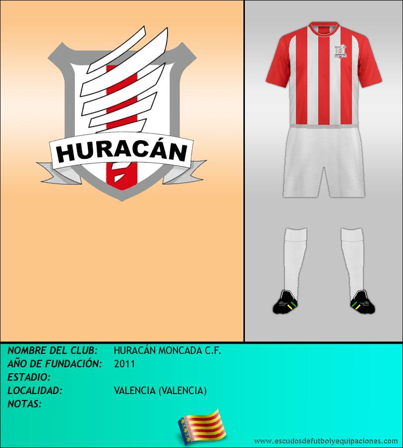 Escudo de HURACÁN MONCADA C.F.