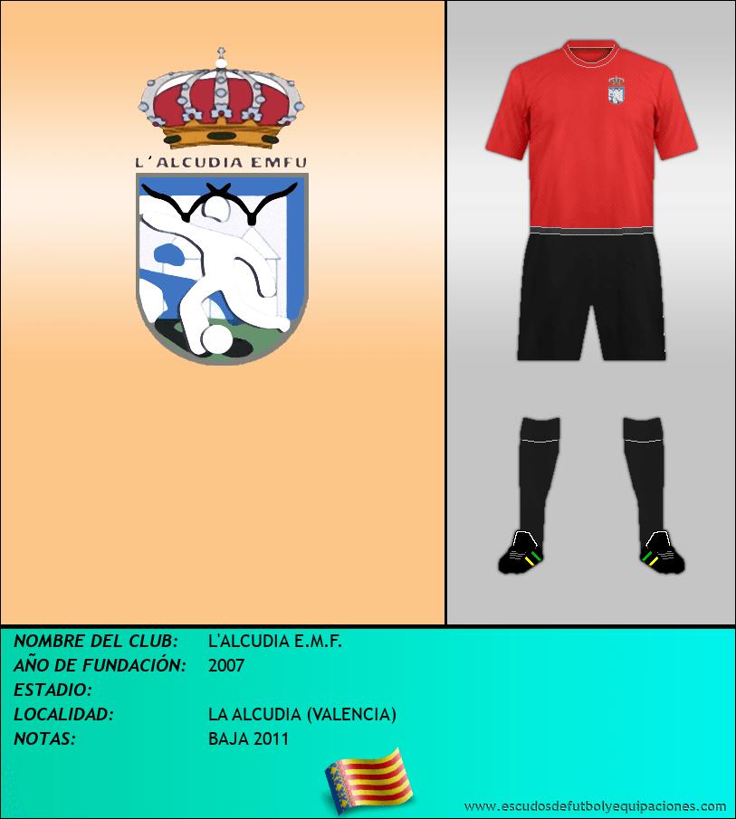 Escudo de L'ALCUDIA E.M.F.