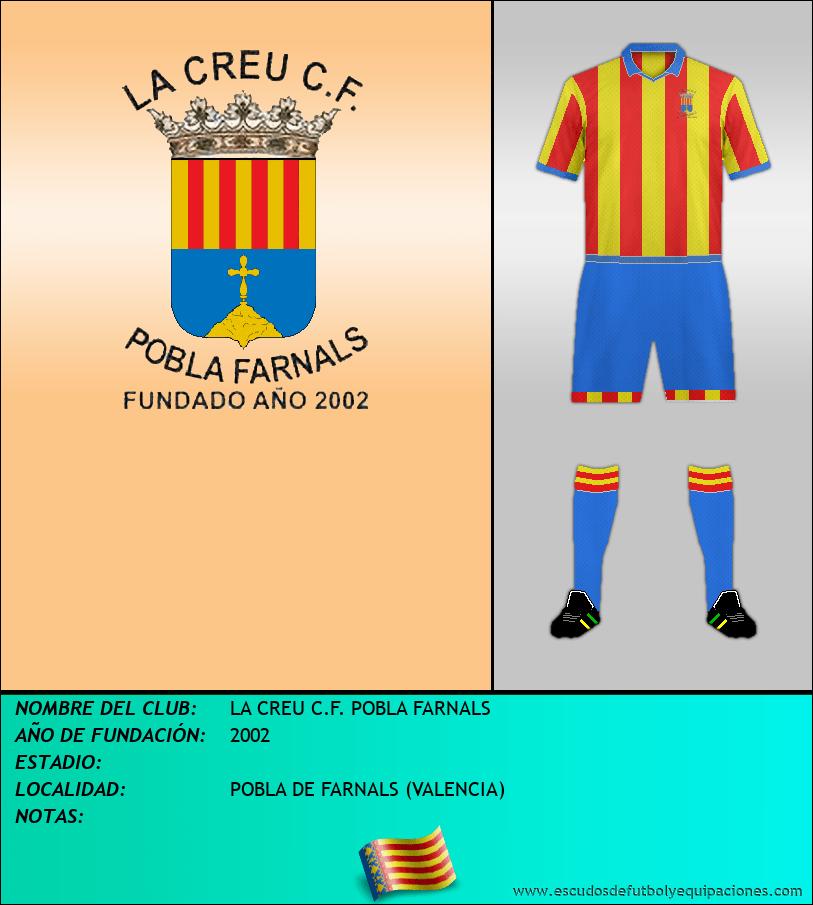 Escudo de LA CREU C.F. POBLA FARNALS