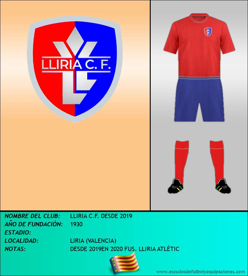 Escudo de LLIRIA C.F. DESDE 2019