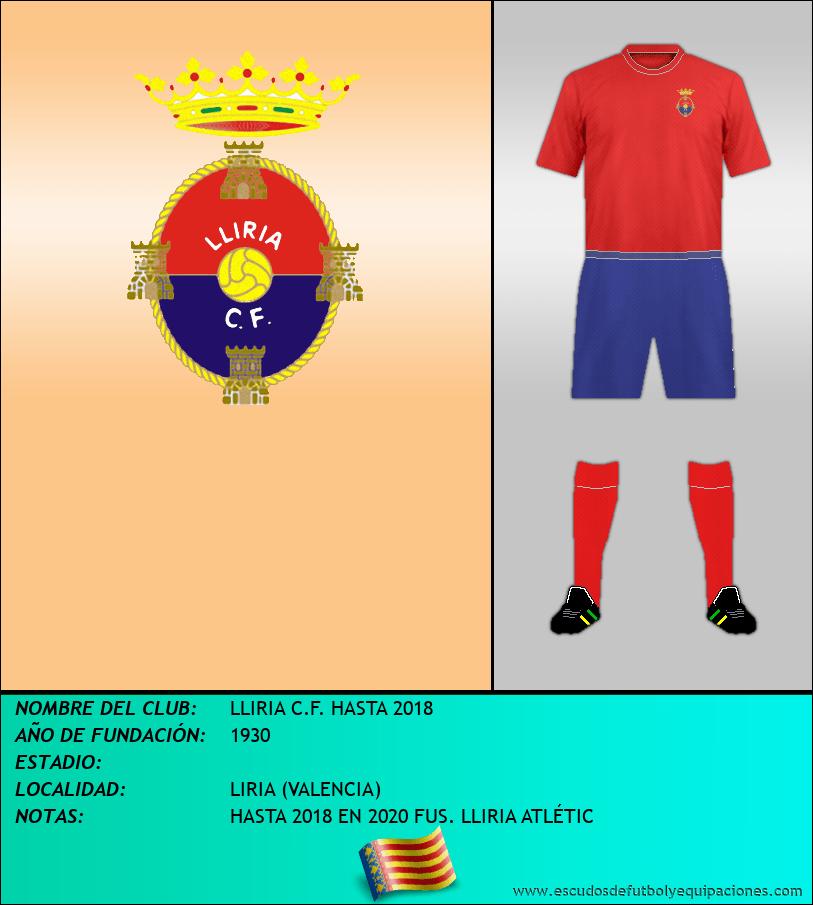 Escudo de LLIRIA C.F. HASTA 2018