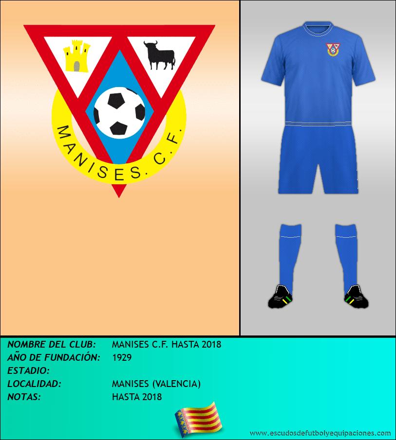 Escudo de MANISES C.F. HASTA 2018