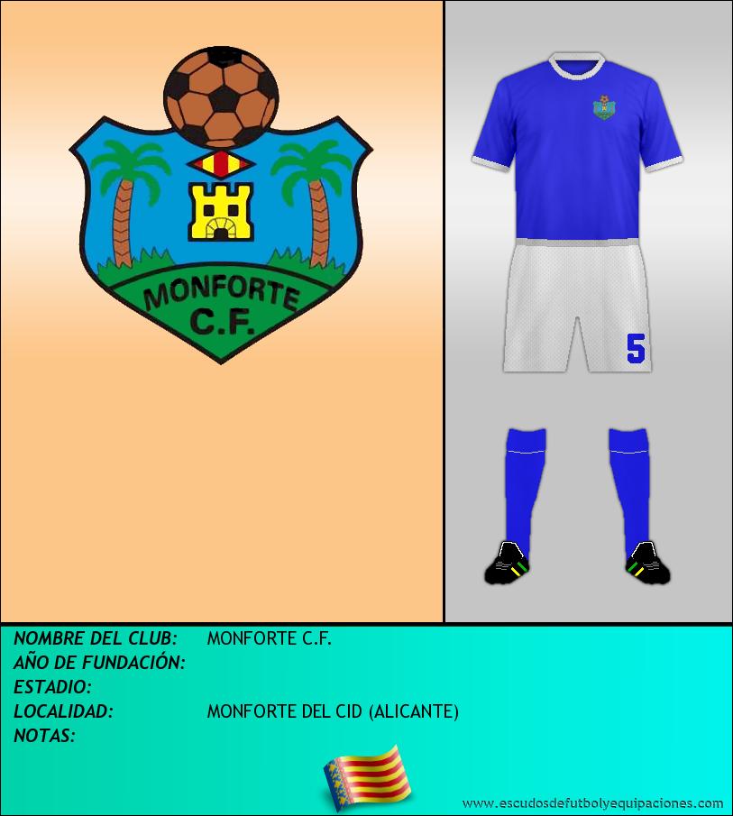 Escudo de MONFORTE C.F.