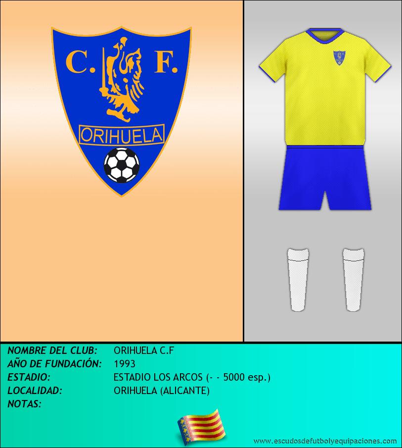 Escudo de ORIHUELA C.F